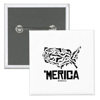 Merica - United States of Guns 15 Cm Square Badge