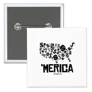 Merica - United States of Money 15 Cm Square Badge