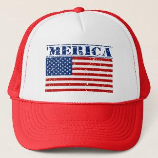 'MERICA US Flag Hat - Distressed / Faded