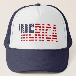 'MERICA US Flag Trucker Hat (original-blue)