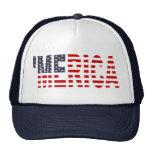 'MERICA US Flag Trucker Hat (original-blue) Mesh Hats