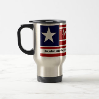 MERICA - USA Flag Shape Customizeable Text Travel Mug