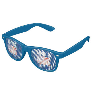 'Merica - Where Winning is a Fashion Statement Retro Sunglasses