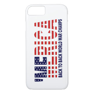 'MERICA World War Champs US Flag iPhone 7 case