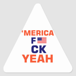 Merica Yeah tshirts Triangle Sticker