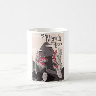 Mérida Mexico travel poster Coffee Mug
