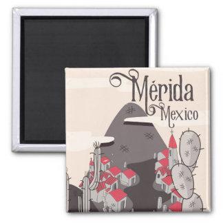 Mérida Mexico travel poster Magnet