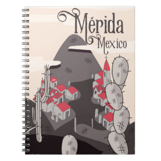 Mérida Mexico travel poster Notebooks