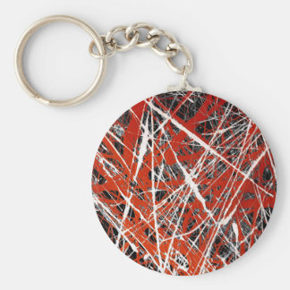 MERIDIAN (an abstract art design) ~ Basic Round Button Key Ring