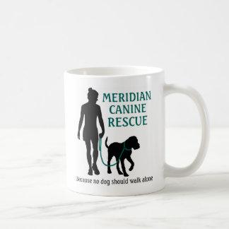 Meridian Canine Rescue logo coffee mug