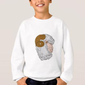 Merino Ram Sheep Head Drawing Sweatshirt