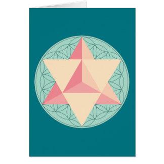 Merkaba on Flower of life Card