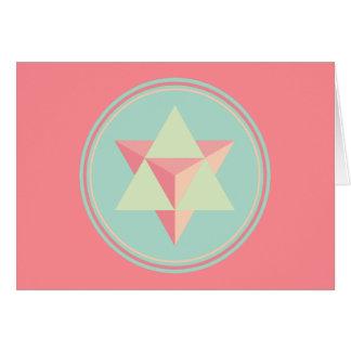 Merkaba Star Tetrahedron Card
