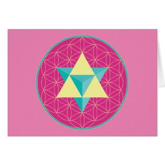 Merkaba with Flower of life Card