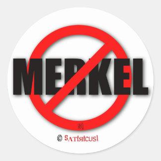 Merkel MUST away! Classic Round Sticker