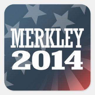 MERKLEY 2014 SQUARE STICKER
