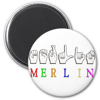 MERLIN FINGERSPELLED ASL NAME SIGN MAGNET
