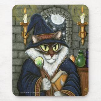 Merlin Magician Wizard Cat Magic Sorcerer Mousepad