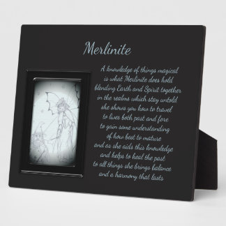 Merlinite Crystal Fairy Plaque