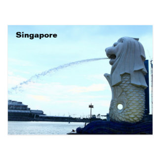 Merlion in Singapore Postcard