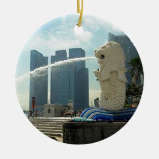 Merlion Sculpture Singapore Ceramic Ornament