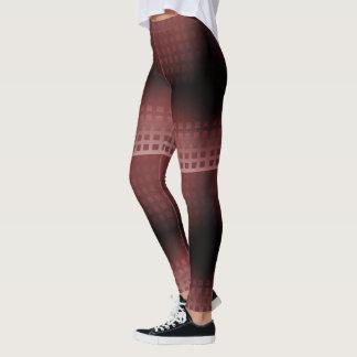 Merlot and Blush Squares Pattern Leggings