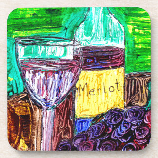 Merlot in the Abstract Beverage Coaster
