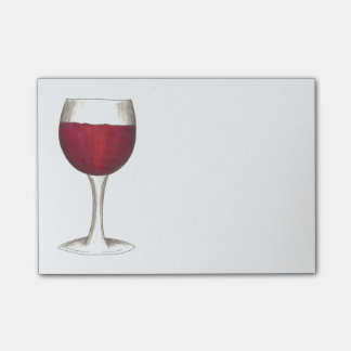 Merlot Red Wine Glass Winery Gift Post It Notes