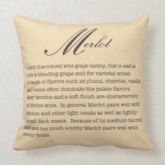 Merlot Wine Description Pillow