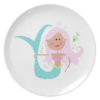 "Mermaid 10"" Melamine Plate"