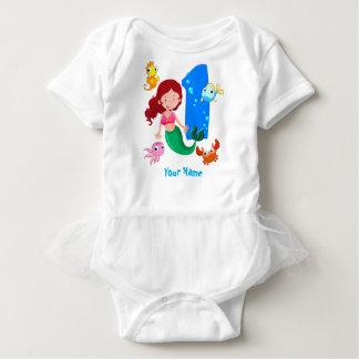 Mermaid 1st Birthday Baby Bodysuit