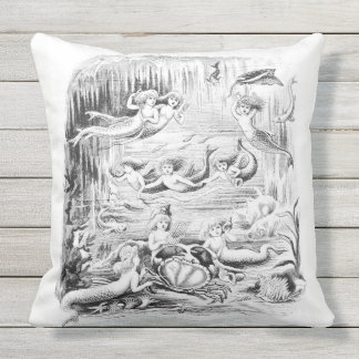 Mermaid 3 Outdoor Pillow