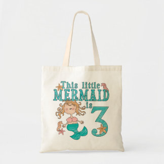 Mermaid 3rd Birthday Tote Bag