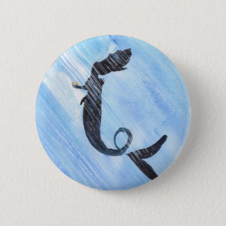 Mermaid 6 Cm Round Badge