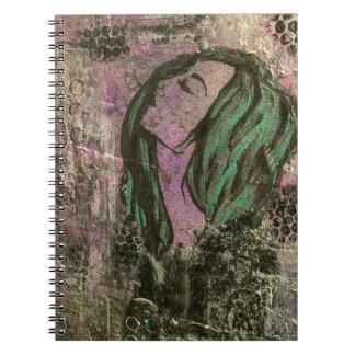 Mermaid abstract notebook