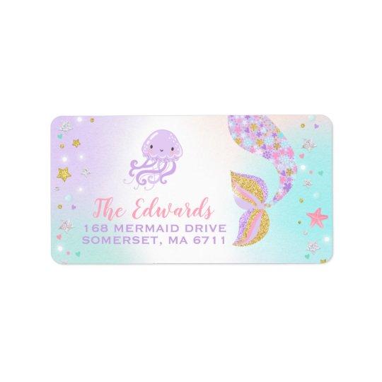 Mermaid Address Labels Magical Mermaid Party