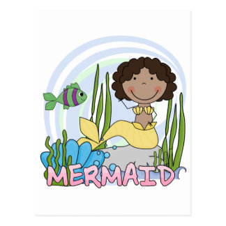 Mermaid - African American Tshirts and Gifts Postcard