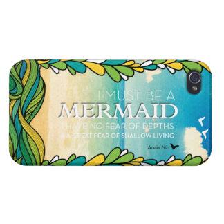 Mermaid - Anais Nin iPhone 4/4S Cover