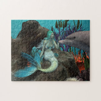 Mermaid and Dolphin Jigsaw Puzzle