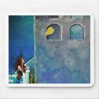 Mermaid and Fish at Undersea Castle Mouse Pad
