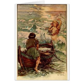Mermaid and Fisherman, Card