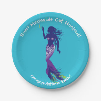 Mermaid and Golden Hook Paper Plate