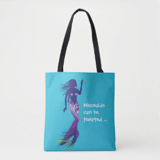 Mermaid and Golden Hook Tote Bag