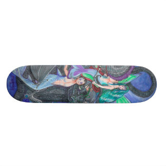 Mermaid and Merman Skateboard