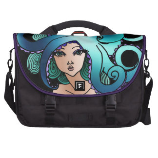 mermaid and octopus commuter bag