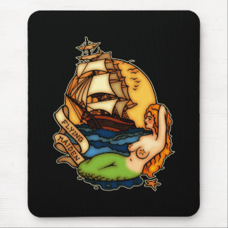 Mermaid and Pirate Ship Mouse Pad