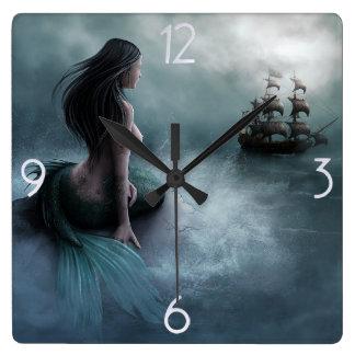 Mermaid and Pirate Ship Wallclocks