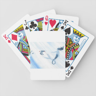 Mermaid and Puffin Bicycle Playing Cards