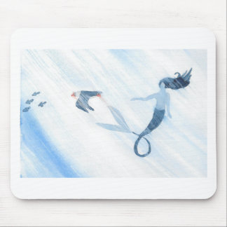 Mermaid and Puffin Mouse Pad