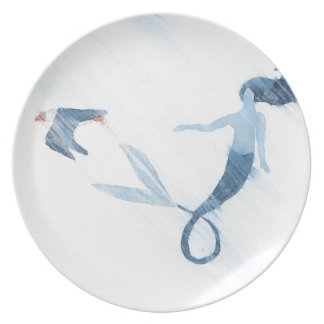 Mermaid and Puffin Plate